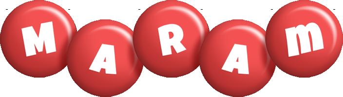 Maram candy-red logo