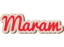 Maram chocolate logo