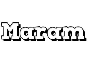 Maram snowing logo