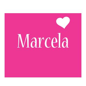 Marcela love-heart logo