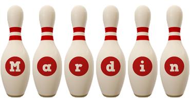 Mardin bowling-pin logo