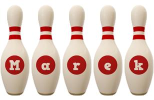 Marek bowling-pin logo