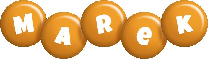 Marek candy-orange logo