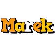Marek cartoon logo