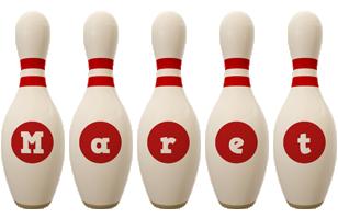Maret bowling-pin logo
