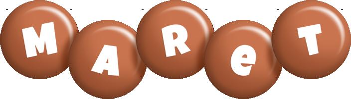 Maret candy-brown logo