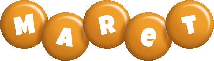 Maret candy-orange logo