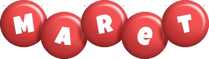 Maret candy-red logo
