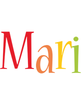 Mari birthday logo