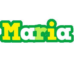 Maria soccer logo