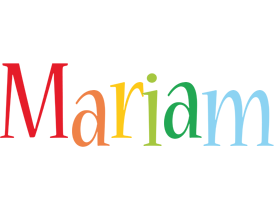 Mariam birthday logo