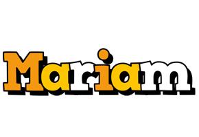 Mariam cartoon logo