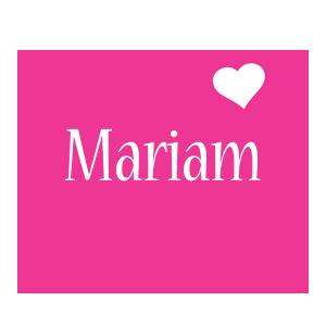 Mariam Logo   Name Logo Generator - I Love, Love Heart