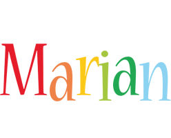 Marian birthday logo