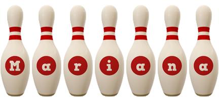 Mariana bowling-pin logo