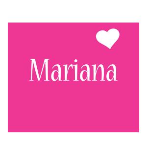 Mariana love-heart logo