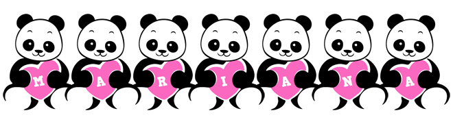 Mariana love-panda logo