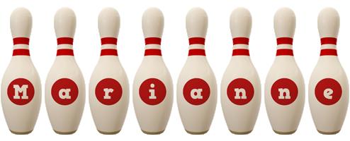 Marianne bowling-pin logo