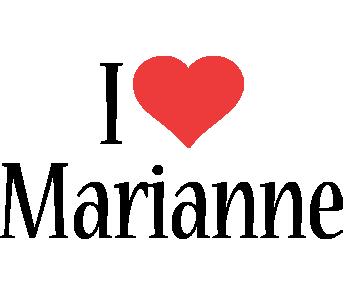 Marianne i-love logo