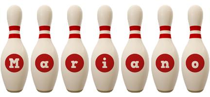 Mariano bowling-pin logo