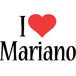 Mariano i-love logo