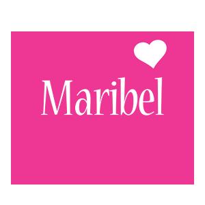 Maribel love-heart logo