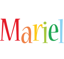 Mariel birthday logo
