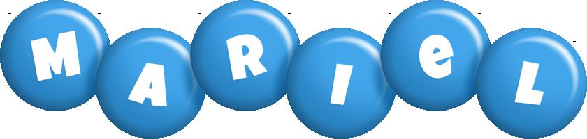 Mariel candy-blue logo