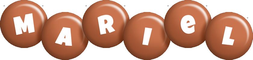 Mariel candy-brown logo