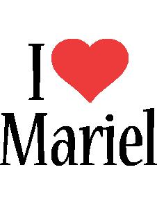 Mariel i-love logo
