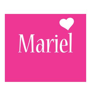 Mariel love-heart logo