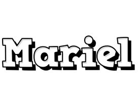 Mariel snowing logo