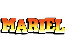 Mariel sunset logo