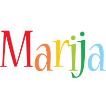 Marija birthday logo