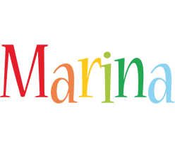 Marina birthday logo
