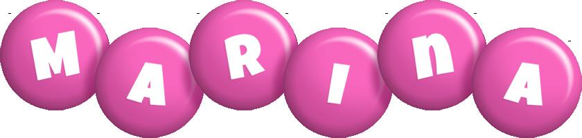 Marina candy-pink logo