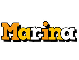 Marina cartoon logo