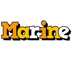 Marine cartoon logo