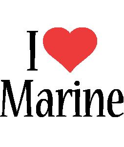 Marine i-love logo