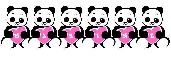 Marine love-panda logo