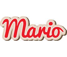 Mario chocolate logo