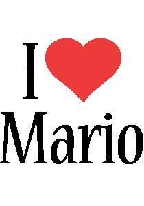 Mario i-love logo