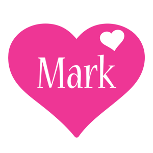 Mark love-heart logo