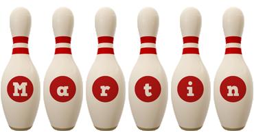 Martin bowling-pin logo
