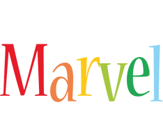 Marvel birthday logo