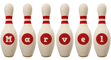 Marvel bowling-pin logo