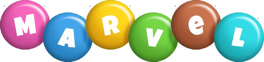 Marvel candy logo