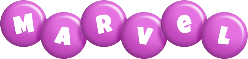 Marvel candy-purple logo
