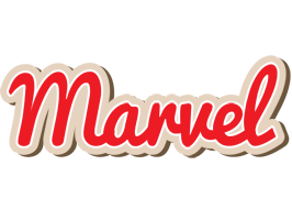 Marvel chocolate logo
