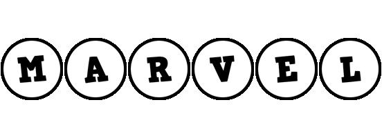 Marvel handy logo